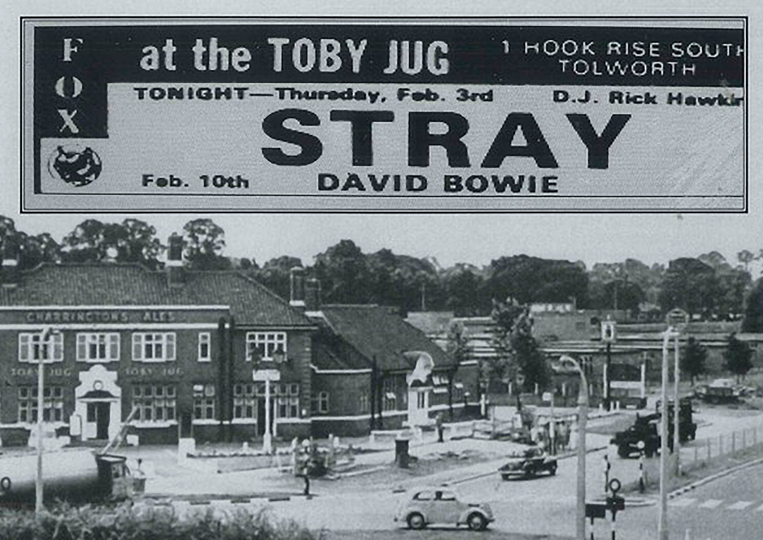 David Bowie at the Toby Jug.