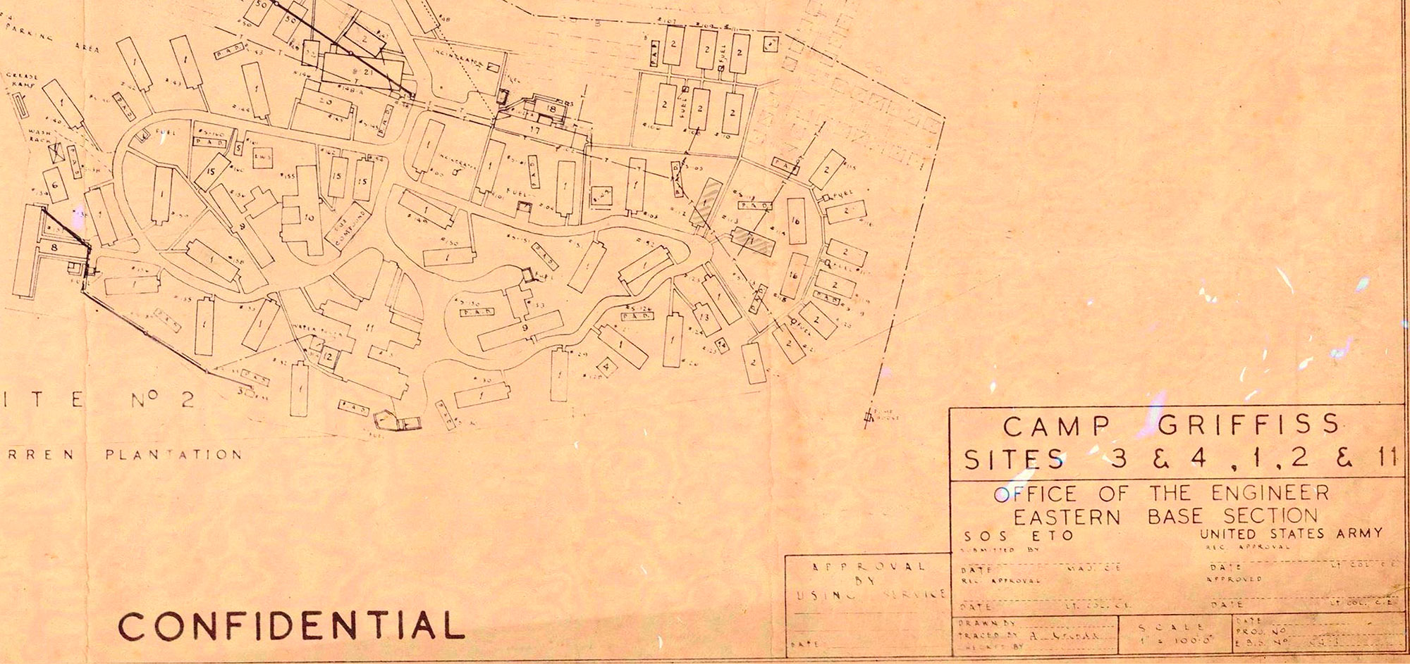 Map of Camp Griffiss