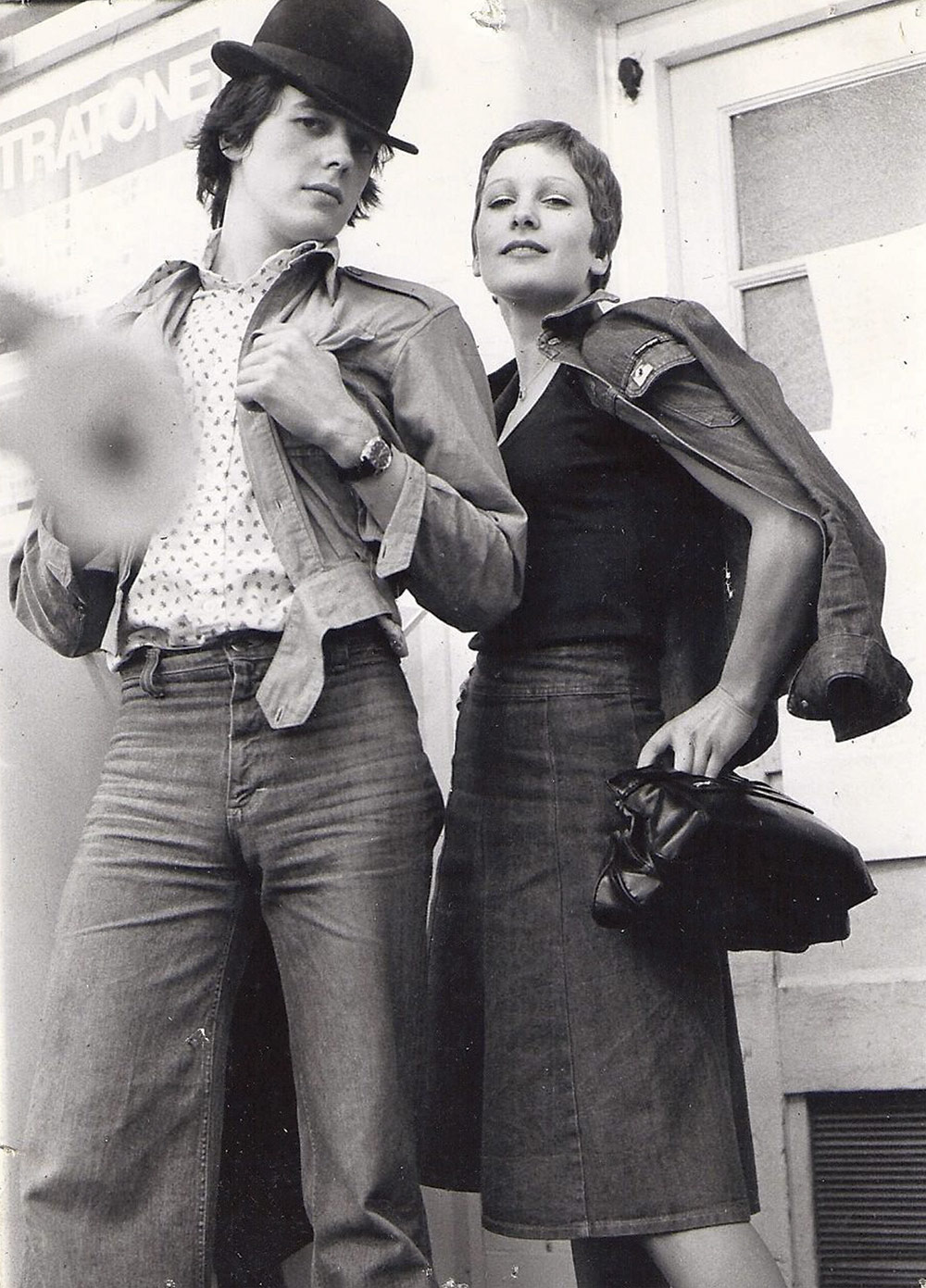 Kingston couple modelling 1970s fashion