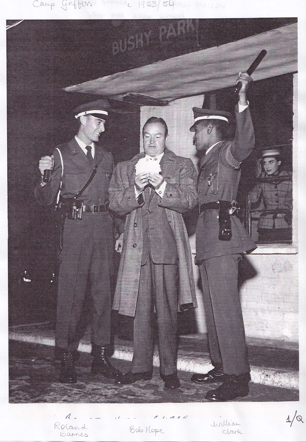 Bob Hope meeting US troops at Bushy Park