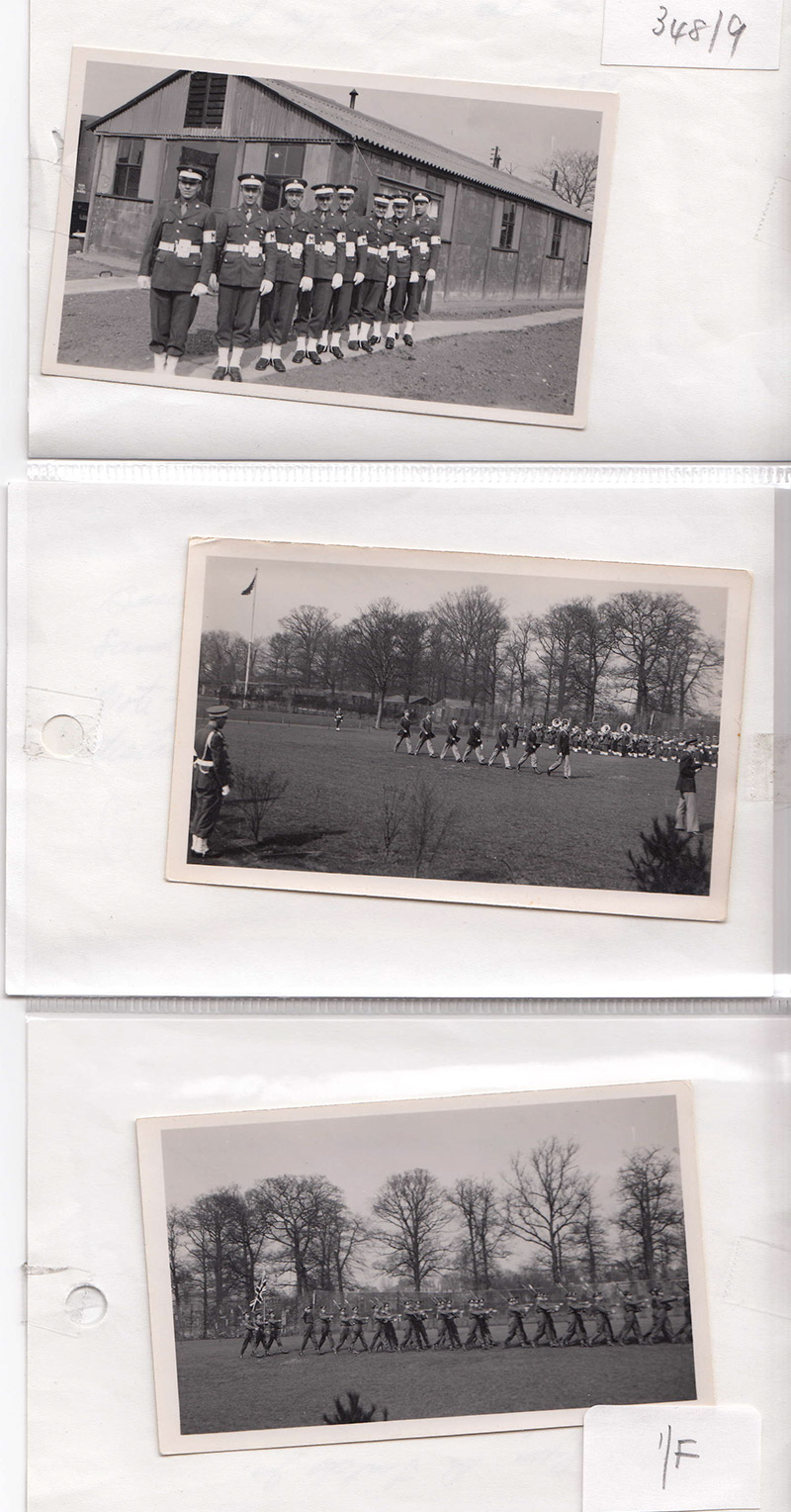 USAF troops outside Bushy Park barracks