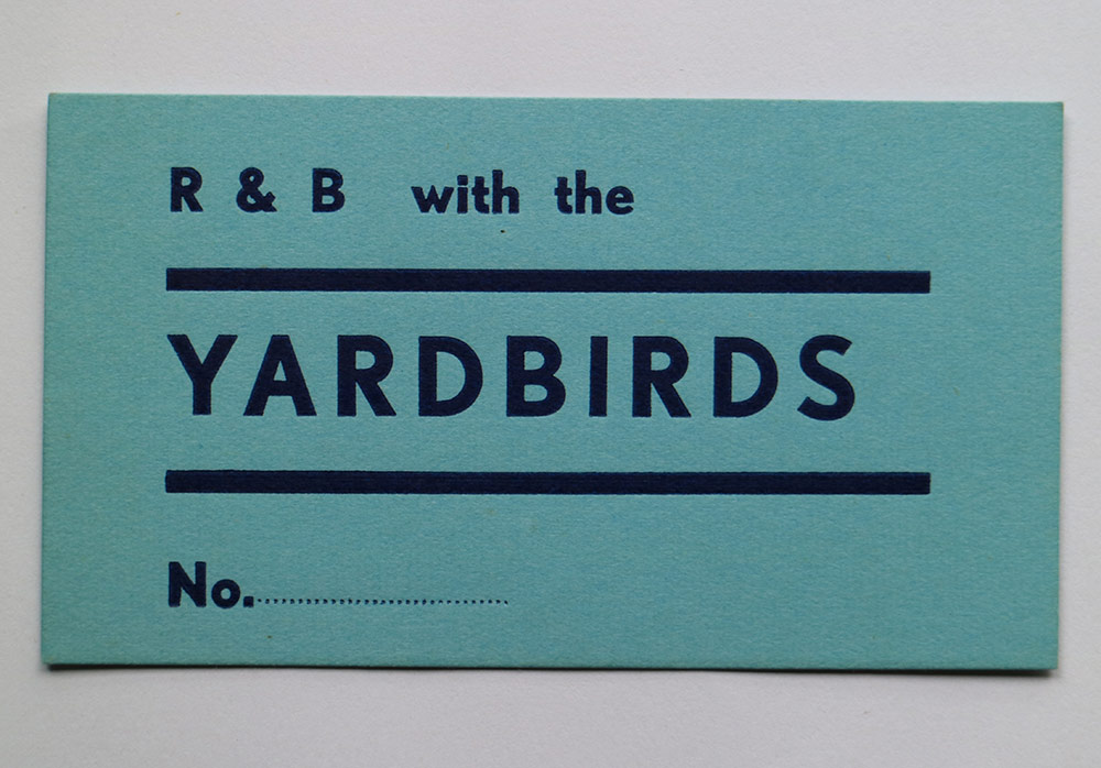 Gig ticket for The Yardbirds