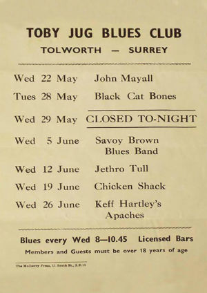 Jethro Tull at the Toby Jug