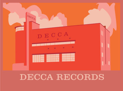 Decca Records building graphic