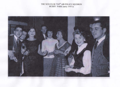 The NCO Club 7500th Air Police Squandron at an early 1950s party